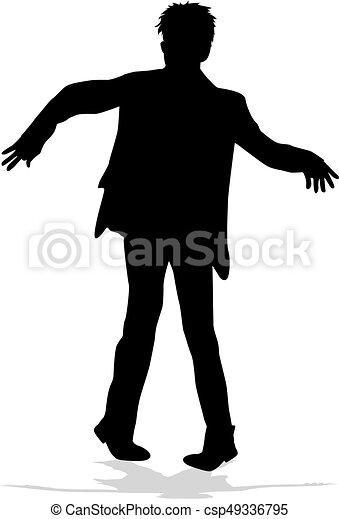 silhouette, man. - csp49336795