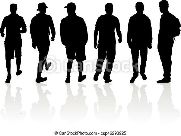 silhouette, man. - csp46293925