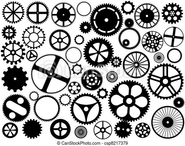 silhouettes, roue vitesse - csp8217379