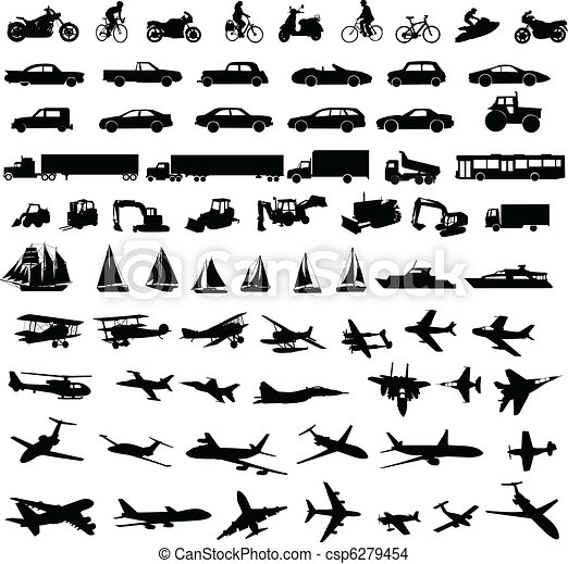 silhouettes, transport - csp6279454