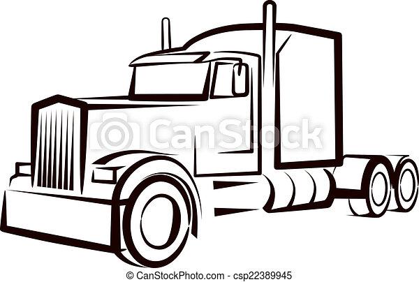 simple, camion, illustration - csp22389945