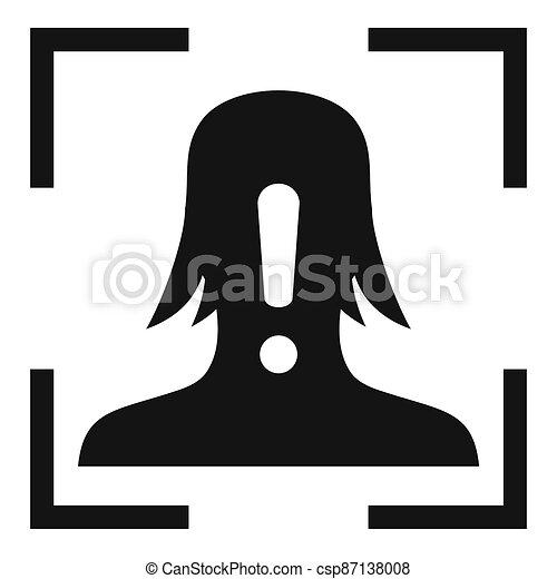 simple, figure, reconnaissance, icône, alerte, style - csp87138008
