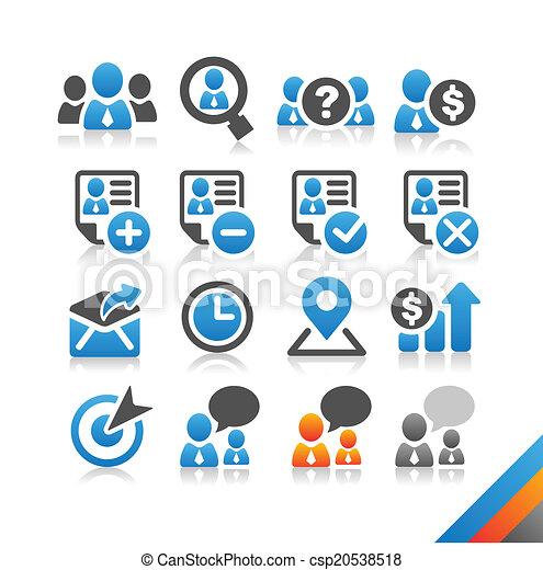 simplicité, ressource, business, série, -, vecteur, humain, icône - csp20538518