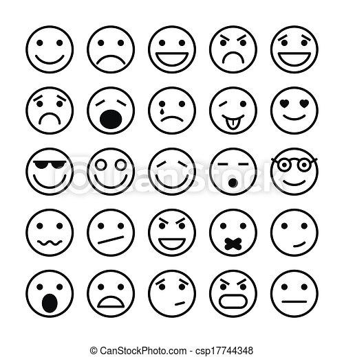 site web, éléments, conception, visages souriants - csp17744348