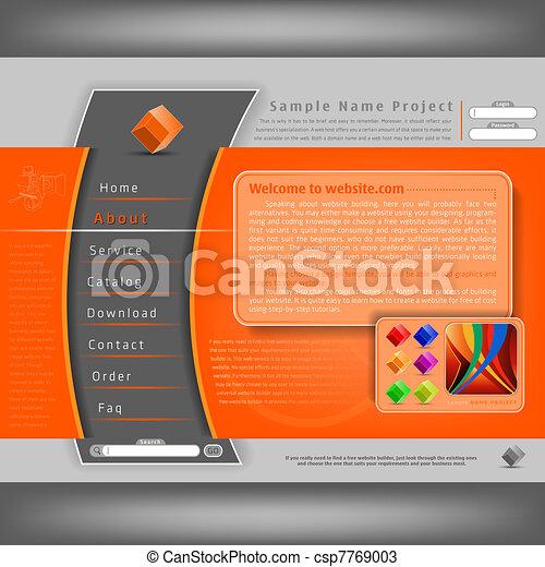 site web, conception, gabarit - csp7769003