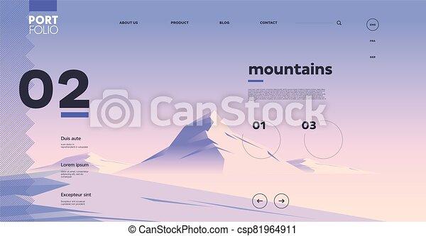 site web, interface, gabarit, conception - csp81964911