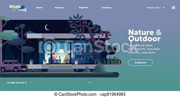 site web, interface, gabarit, conception - csp81964993