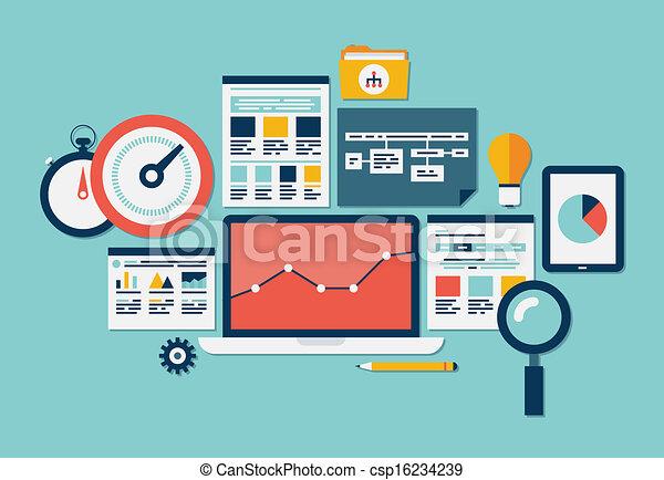 site web, seo, analytics, icônes - csp16234239