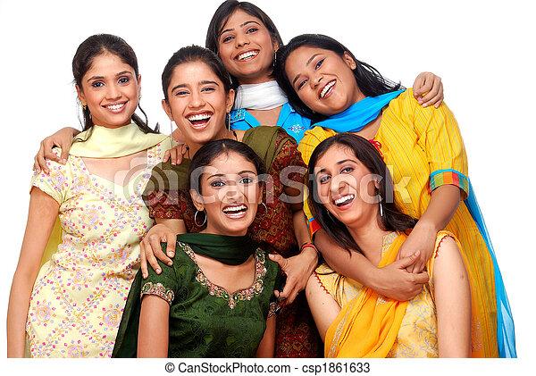 six, filles, jeune - csp1861633