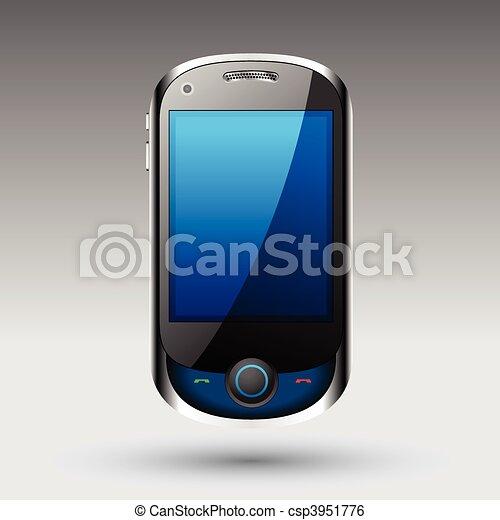 smartphone, vecteur, editable, fichier - csp3951776