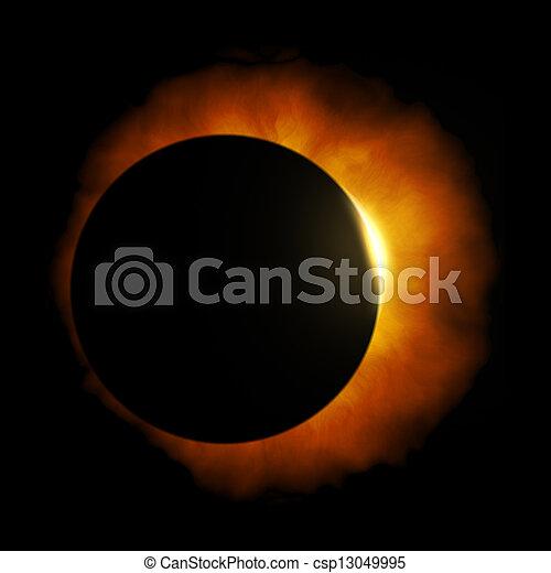 soleil, éclipse - csp13049995