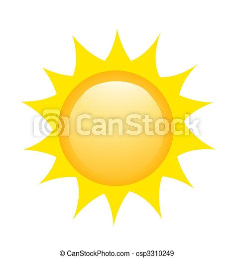 soleil, vecteur, illustration, icône - csp3310249
