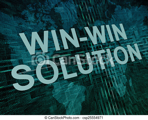 solution, win-win - csp25554971