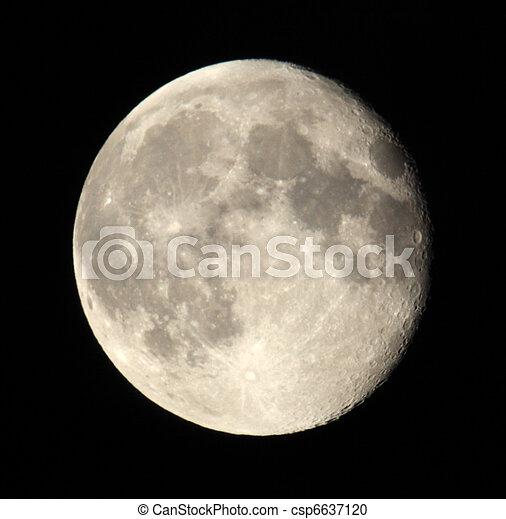 sombre, phase, lune, 18.06.11, sky. - csp6637120