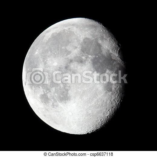 sombre, phase, lune, 19.06.11, sky. - csp6637118