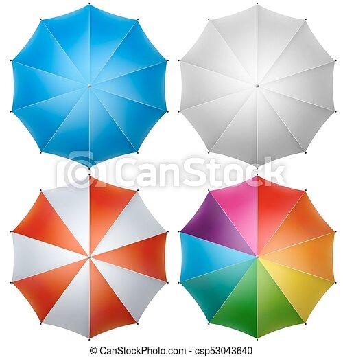 sommet, parapluie, coloré - csp53043640