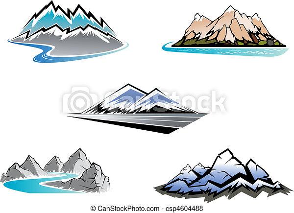 sommets montagne - csp4604488