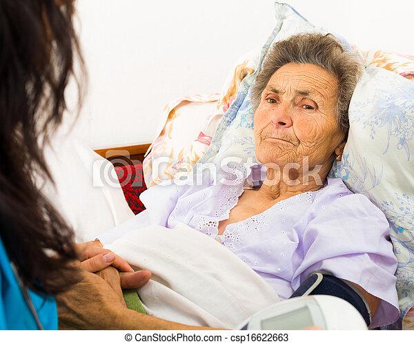 soucier, personne agee, patient - csp16622663