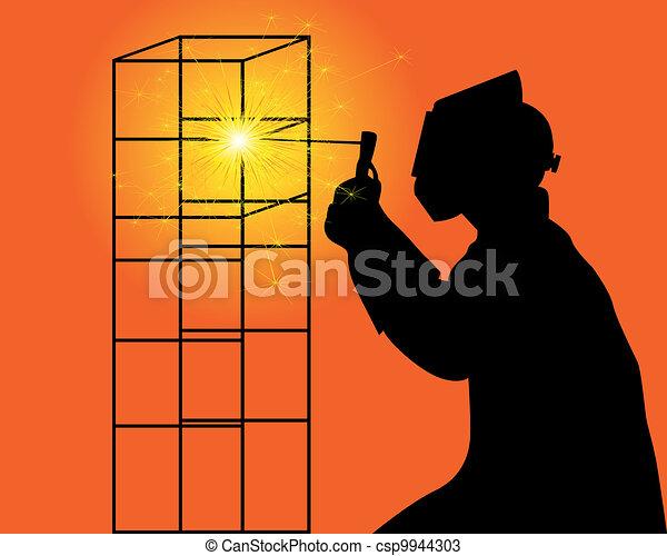 soudeur, silhouette - csp9944303
