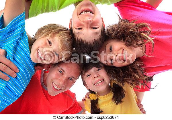 sourire heureux, enfants - csp6253674
