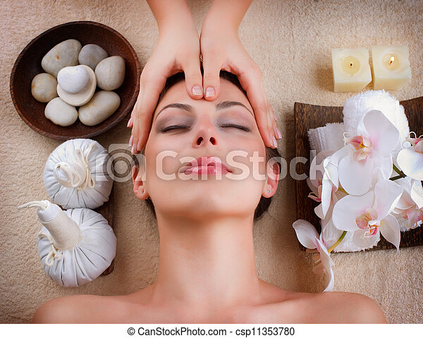 spa, salon, massage facial - csp11353780
