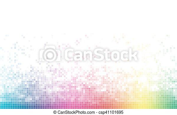 spectre, fond, copie, blanc, coloré, space., résumé, mosaïque - csp41101695