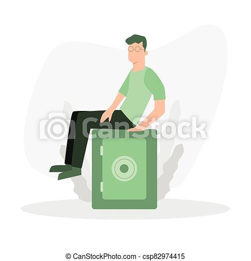 stand, caractère, dépôt, box., sécurité, sûr - csp82974415