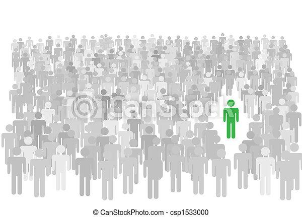 stands, foule, gens, symbole, grand, personne, individu, dehors - csp1533000