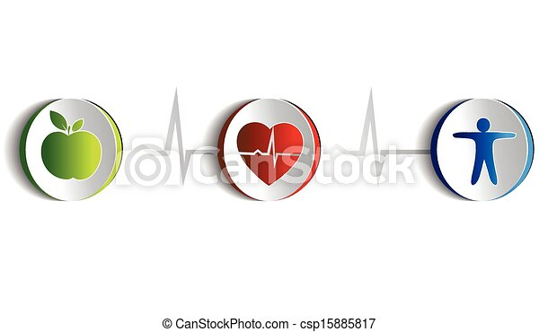 style de vie, symboles, sain - csp15885817