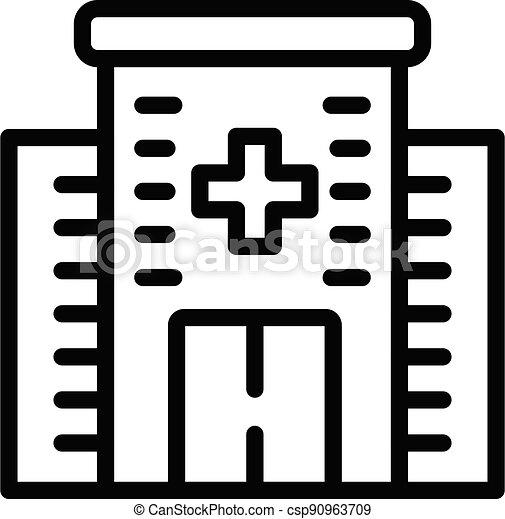 style, icône, bâtiment, contour, monde médical - csp90963709
