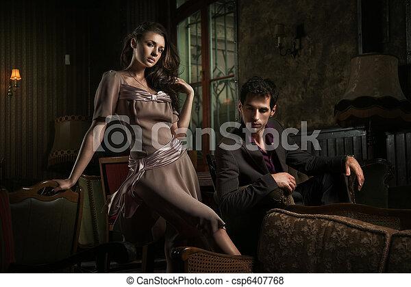 style, mode, photo, couple, jeune, séduisant - csp6407768