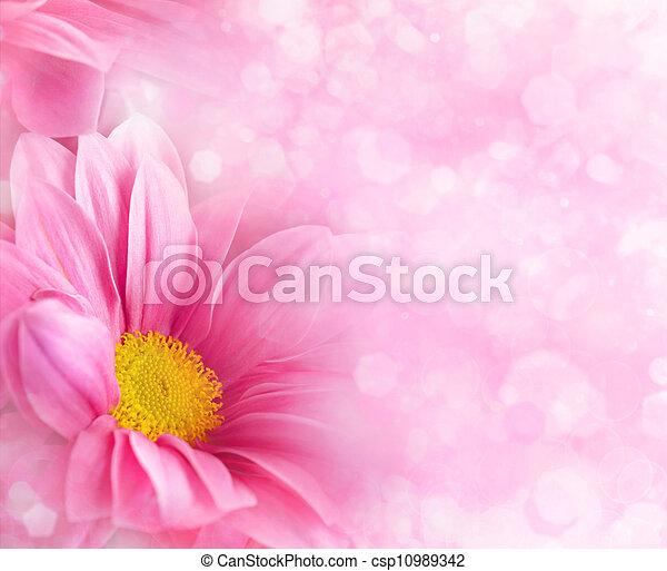 stylique floral, résumé, arrière-plans, ton - csp10989342