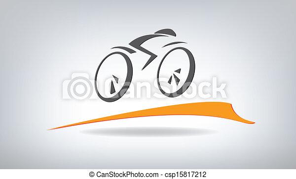 stylisé, vecteur, vélo, illustration - csp15817212