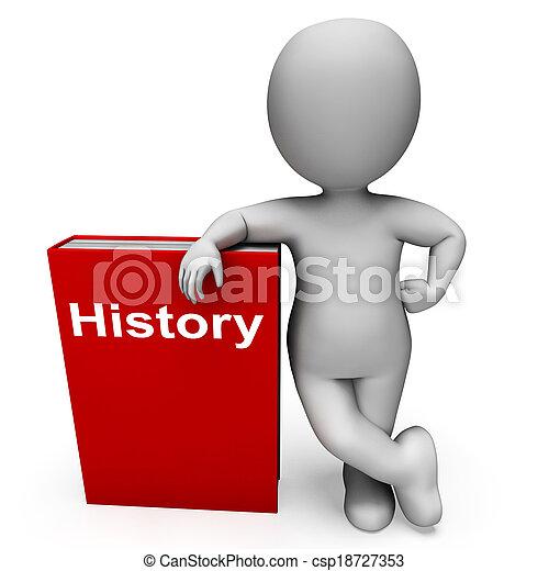 sur, caractère, passé, livres, spectacles, livre, histoire - csp18727353