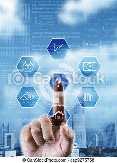 sur, droit, décision économique, image, choix, choisir, conceptuel, confection, investissement - csp9275758