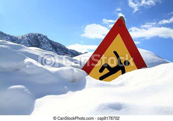 surface?, panneaux signalisations, ?slippery - csp9178702