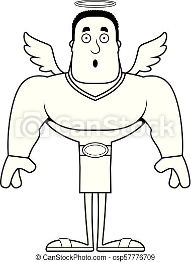 surpris, dessin animé, ange - csp57776709
