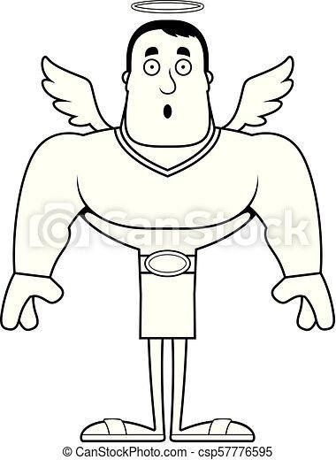 surpris, dessin animé, ange - csp57776595
