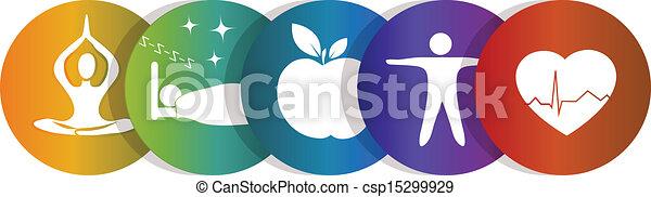 symbole arc-en-ciel, santé - csp15299929