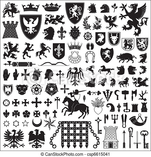 symboles, éléments, héraldique - csp6615041