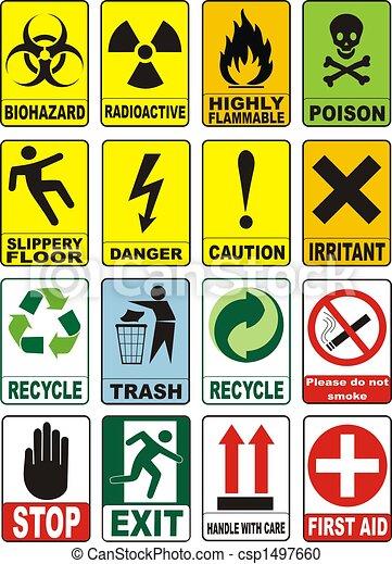 symboles, avertissement, utile - csp1497660