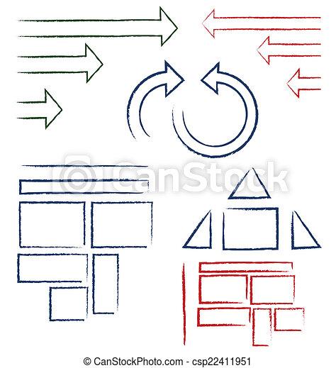 symboles, manuscrit - csp22411951