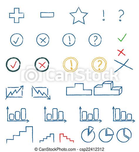 symboles, manuscrit - csp22412312