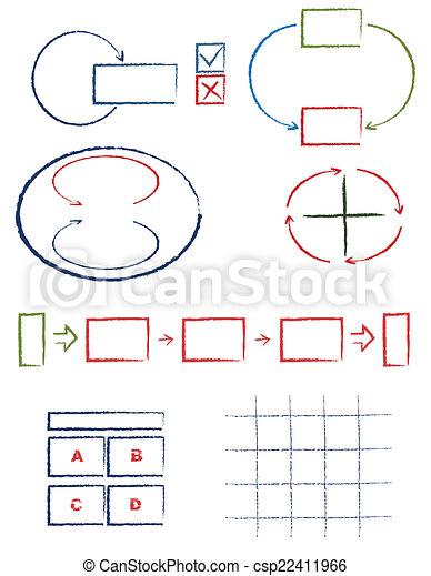 symboles, manuscrit - csp22411966