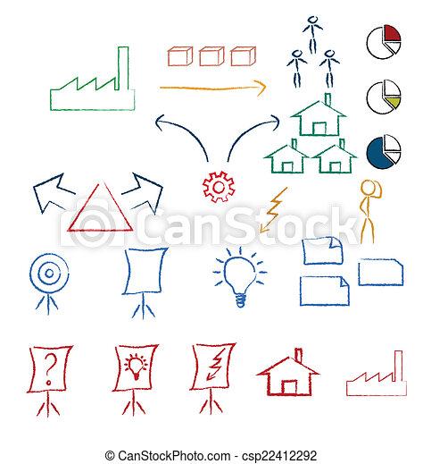 symboles, manuscrit - csp22412292