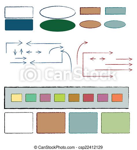 symboles, manuscrit - csp22412129