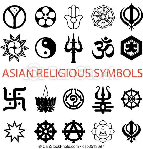 symboles, religieux, divers - csp3513697