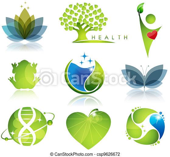 symboles, soin, écologie - csp9626672