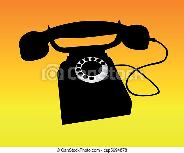 téléphone, silhouette - csp5694878