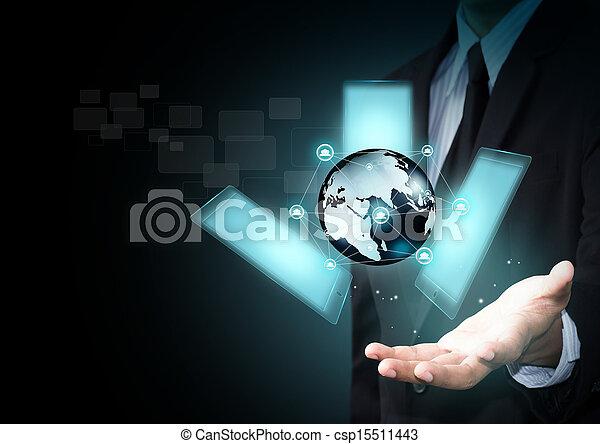 téléphone, touchscreen, intelligent - csp15511443